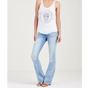 True Religion Joey Flare Jeans Light Wash 28